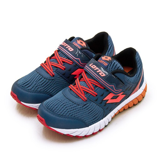 【LOTTO】21cm-24.5cm 雙密度避震輕量跑鞋 2 color 雙色動力系列 藍螢橘 1626 大童