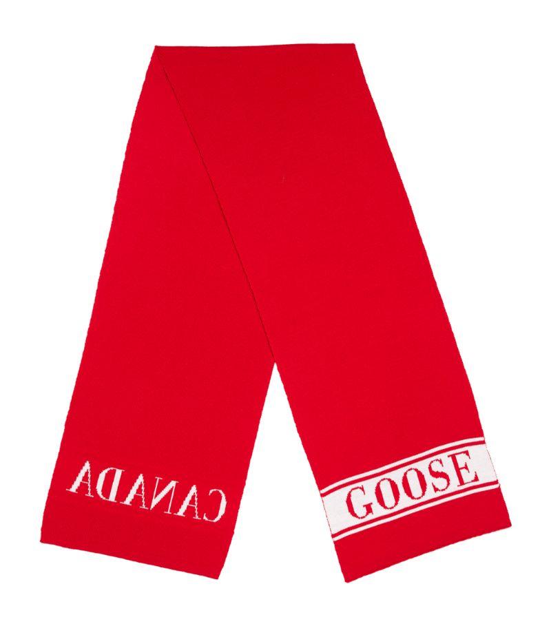 Canada Goose Kids Merino Wool Logo Scarf