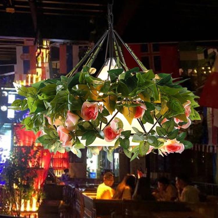 吊燈 繁花酒吧音樂餐廳玫瑰花綠植西餐廳咖啡店