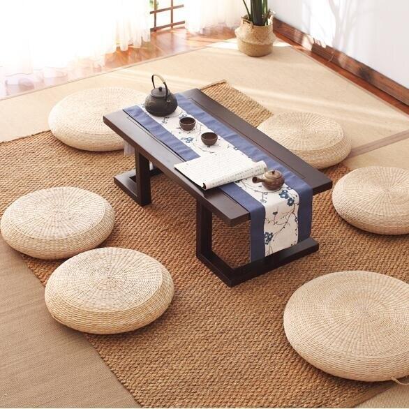 打坐蒲團 草編坐墊喝茶墊加厚家用打坐拜佛墊瑜伽禪修墊圓地板草墊子