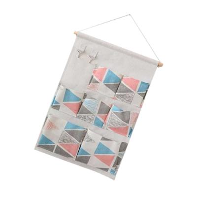 多功能 小清新 簡約北歐風 居家棉麻 懸掛式 儲物袋 收納袋 門後掛袋 布藝收納袋