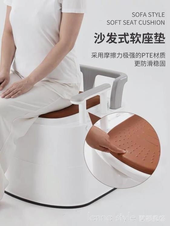 老人坐便器可移動馬桶孕婦家用室內老年人便攜式蹲便凳成人便椅