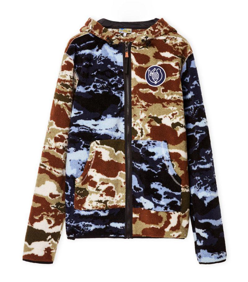 Loewe Fleece Camouflage Zip-Up Hoodie
