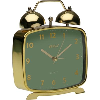 《VERSA》復古桌面鬧鐘(綠金)