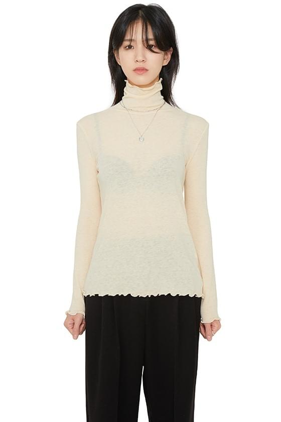 韓國空運 - Dry wave angora turtleneck top 長袖上衣