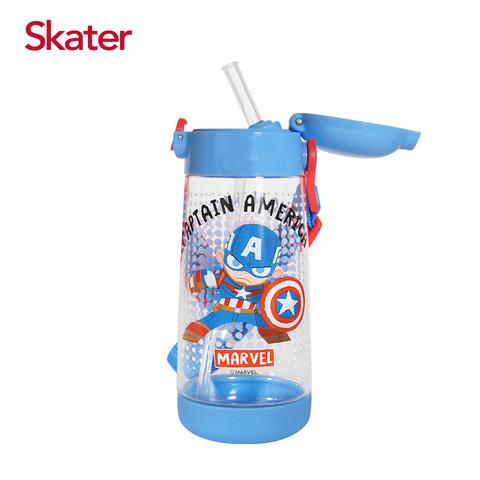 Skater PET吸管水壺(480ml)美國隊長與鋼鐵人