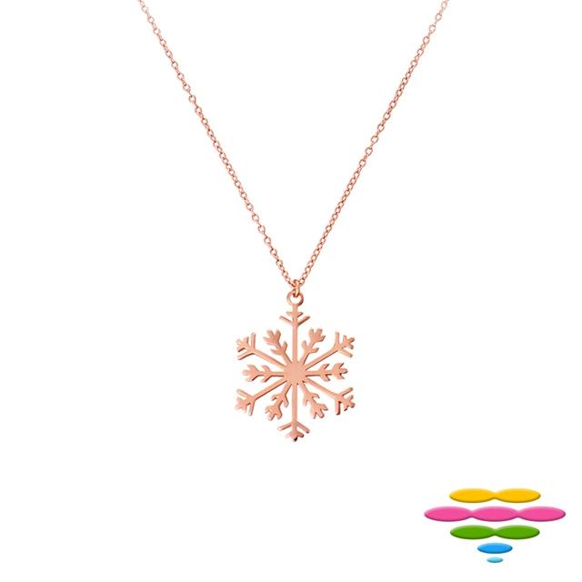 彩糖鑽工坊 桃樂絲系列銀飾 玫瑰金純銀項鍊 HAG-PS25