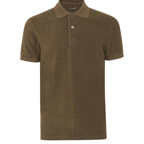 Towelling short sleeve polo