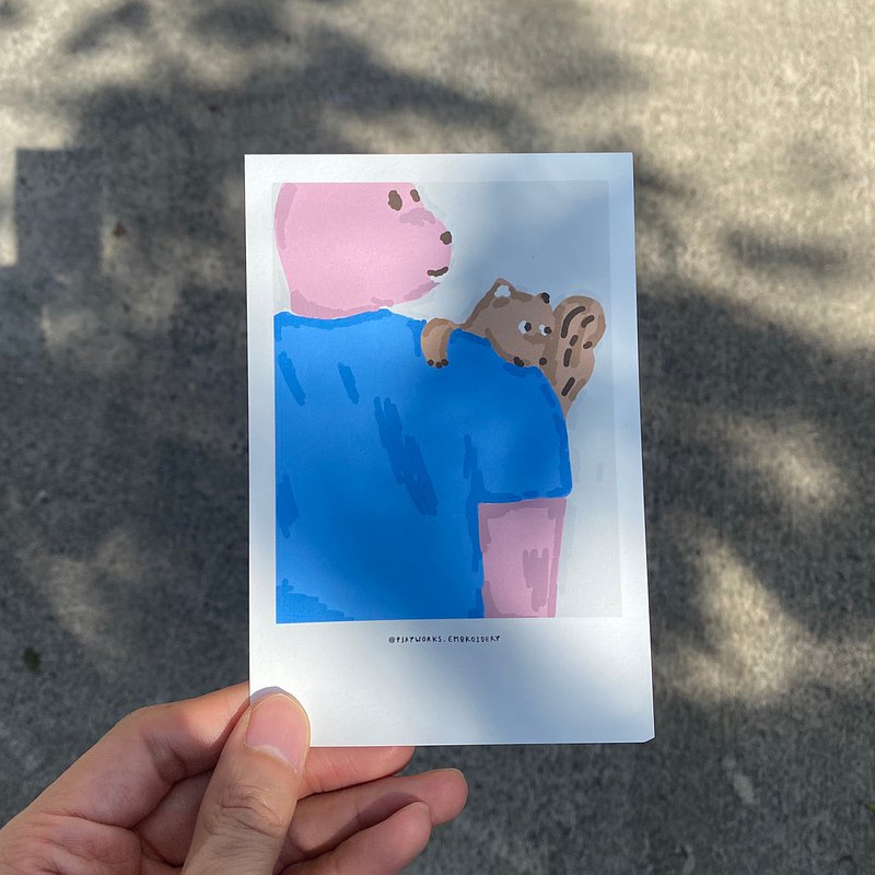 明信片:兔子和好友