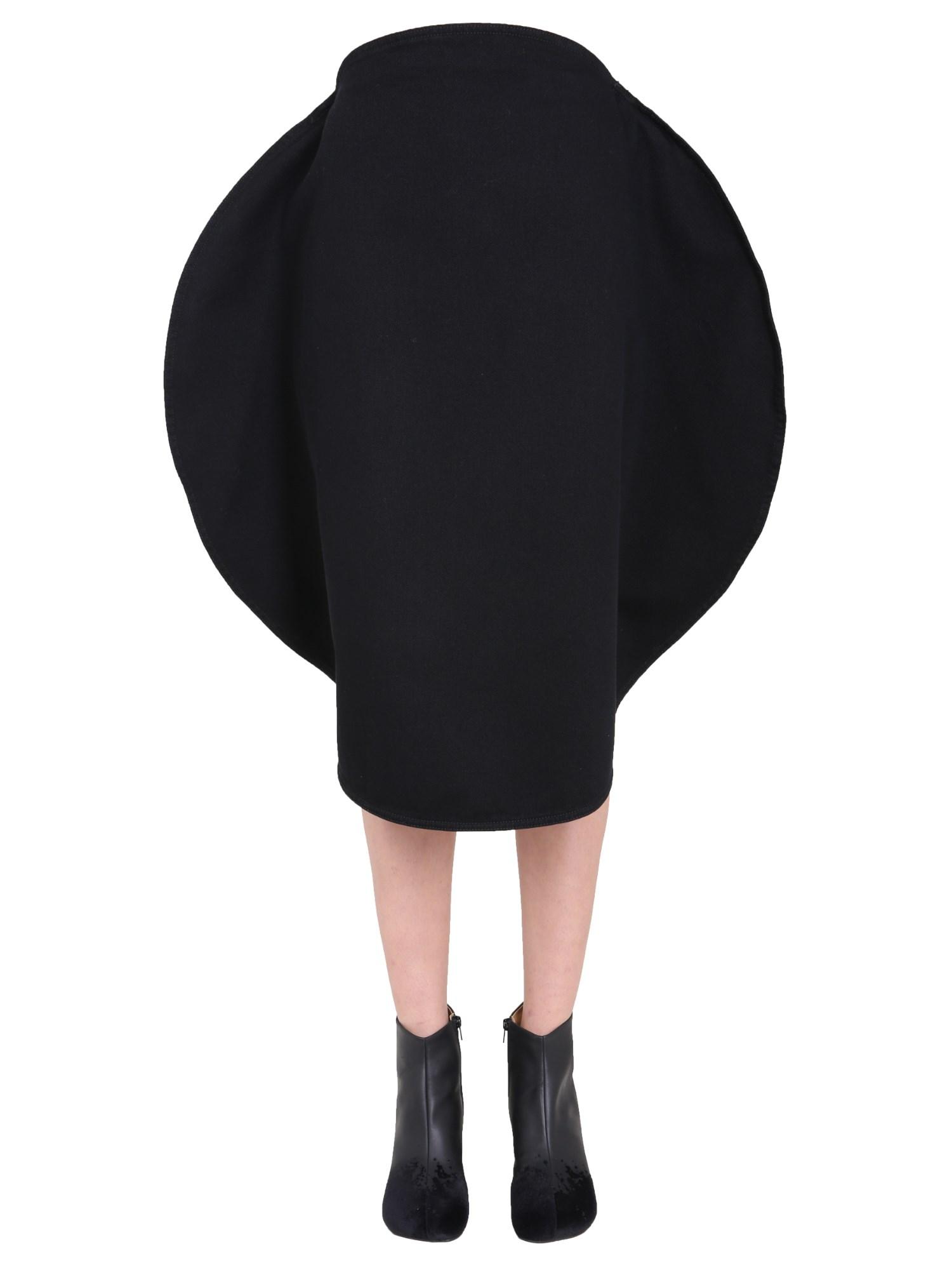 mm6 maison margiela circle skirt
