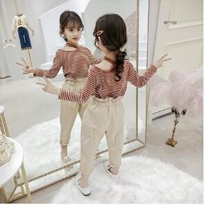 童裝女童秋裝套裝2020新款韓版潮兒童小女孩超洋氣時髦網紅兩件套