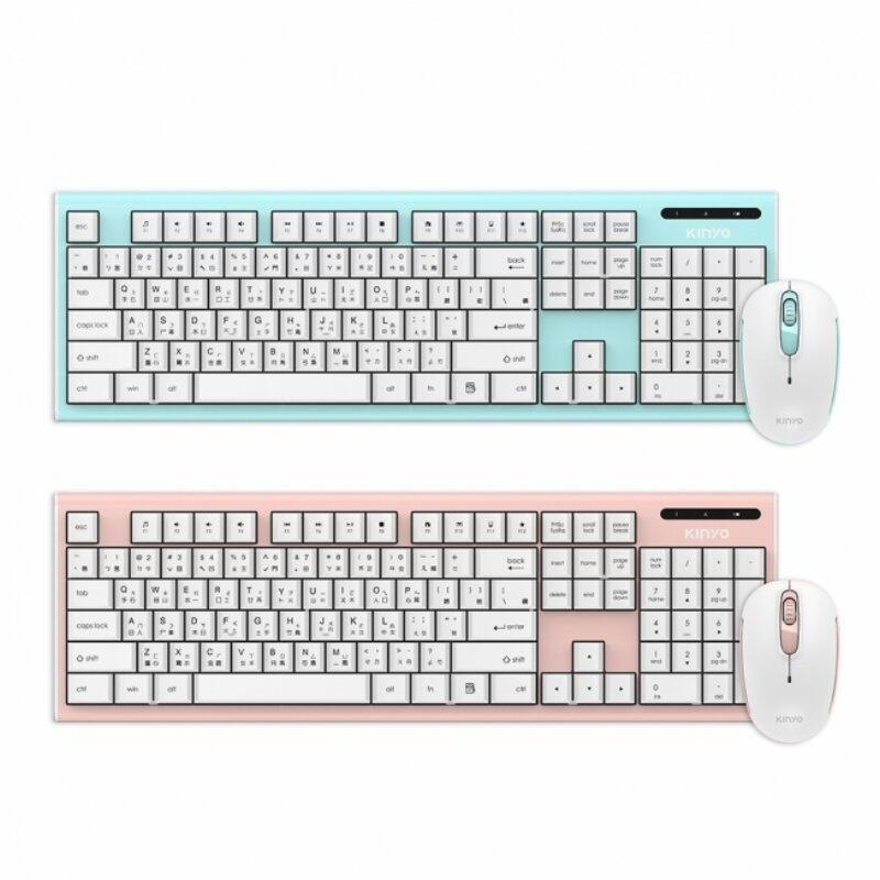 KINYO 2.4GHz無線鍵鼠組GKBM-883無線鍵盤滑鼠組2.4G 無線鍵盤滑鼠組(限宅)【HA350】