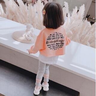 網紅女童秋裝套裝2020新款兒童3歲洋氣小童裝秋季寶寶時髦兩件套1