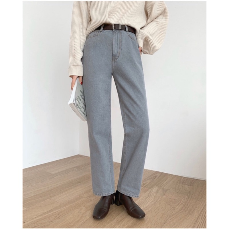 韓國DEJOU 必備經典款中腰牛仔褲