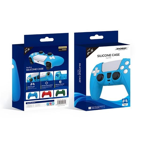 [哈GAME族] 滿399免運 可刷卡 DOBE PS5 TP5-0512手把矽膠保護套 矽膠套 藍色/紅色/墨綠色 三色