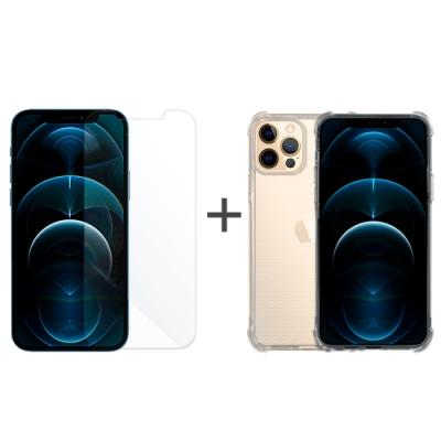 Metal-Slim Apple iPhone 12/12 Pro 強化防摔抗震空壓手機殼+玻璃貼