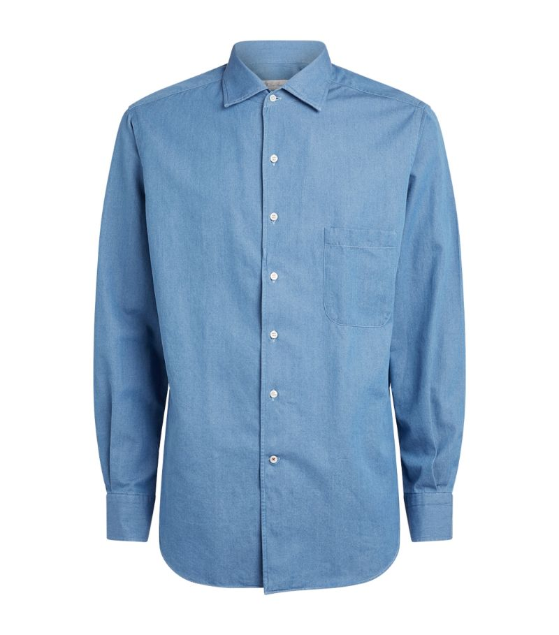 Loro Piana Denim Andrew Oxford Shirt