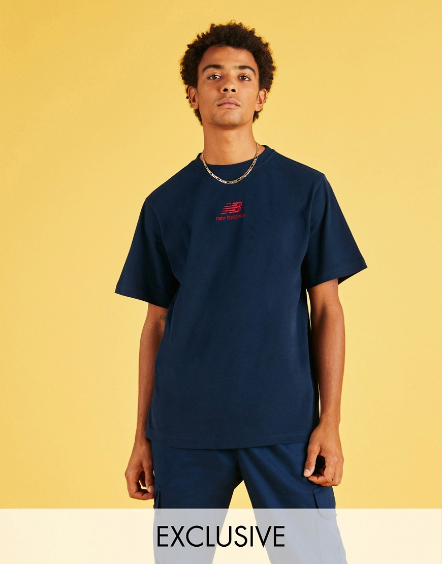 New Balance logo t-shirt in navy - exclusive to ASOS