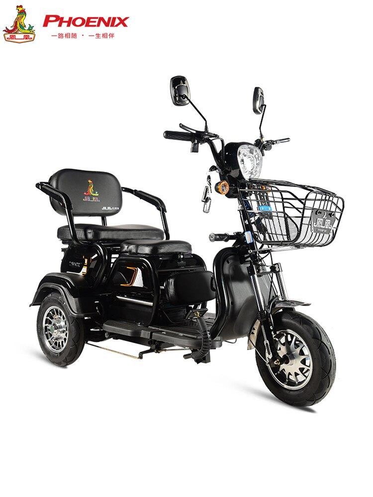 鳳凰電動三輪車家用接送孩子時尚小型小巴士