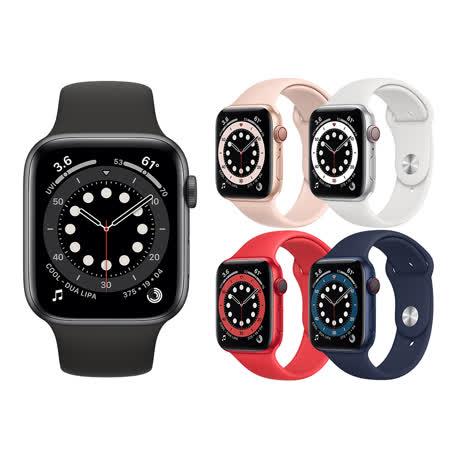 Apple Watch Series 6 (GPS+行動網路) 44mm鋁金屬錶殼搭配運動型錶帶