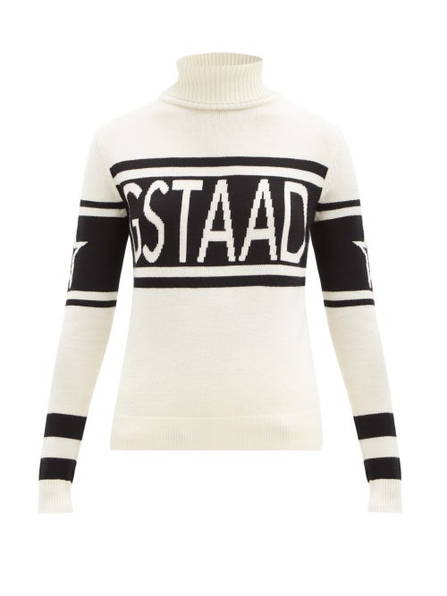 Perfect Moment - Schild Roll-neck Wool Sweater - Womens - White