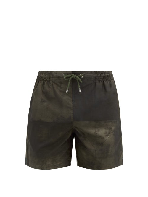 Marané - Abstract-print Swim Shorts - Mens - Black