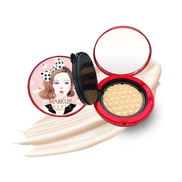 (圖殼00-74) 韓國 Makeup Helper 保濕氣墊粉凝霜 防水/防汗 SPF50/PA+++ 23g 23自然米
