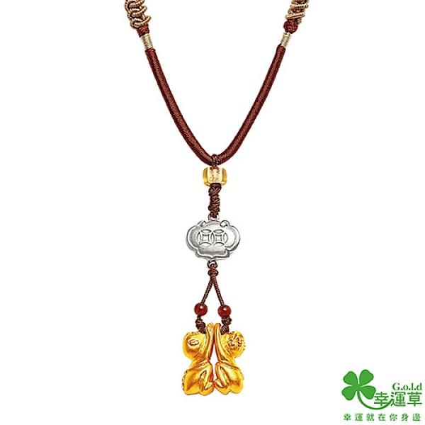 幸運草金飾 金(真)貴人黃金/純銀/中國繩項鍊
