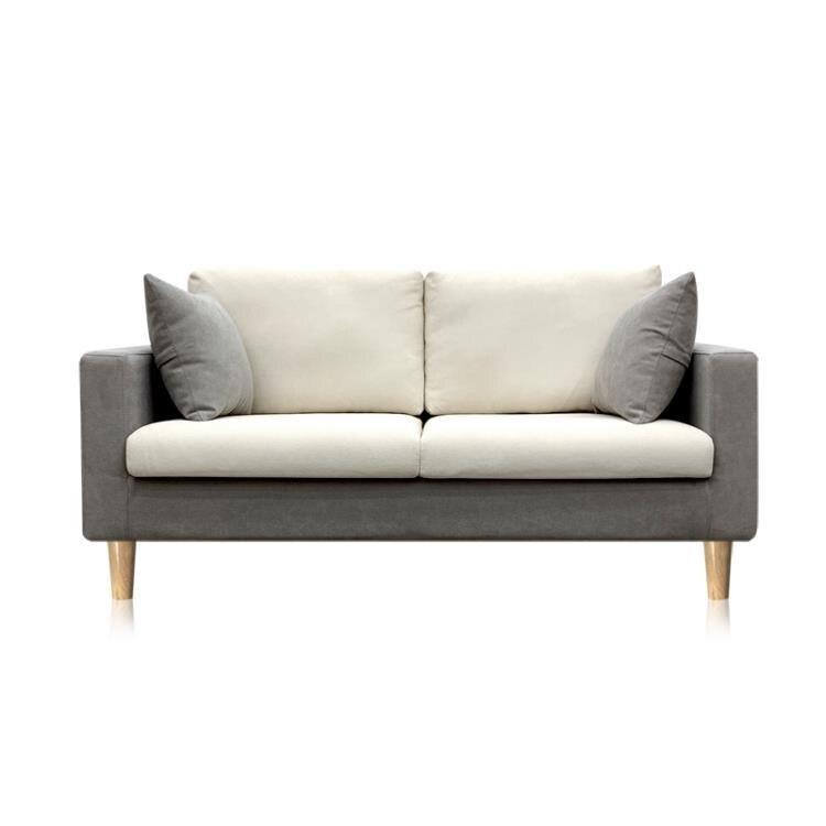 火爆夯貨-沙發 布藝現代簡約三人雙人沙發出租房公寓臥室沙發整裝