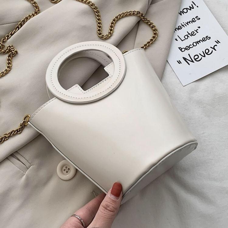 水桶包 北包包小眾包2020新款潮迷你水桶包時尚百搭圓筒包單肩斜背包包女