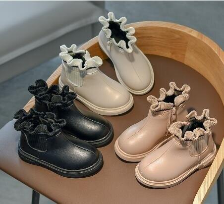 女童靴子 女童靴子春秋單靴2020秋冬季新款小女孩公主短靴寶寶加絨兒童皮靴