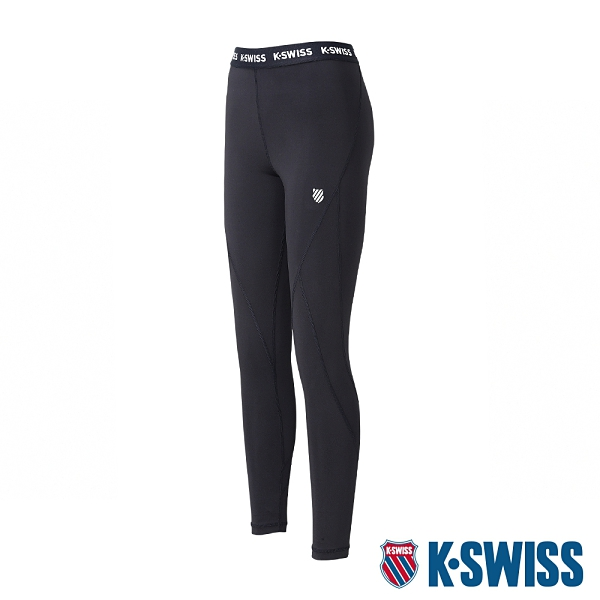K-SWISS KS Elastic Band Legging運動內搭褲-女-黑