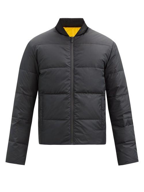 Fendi - Reversible Logo-appliqué Quilted Down Jacket - Mens - Black Yellow