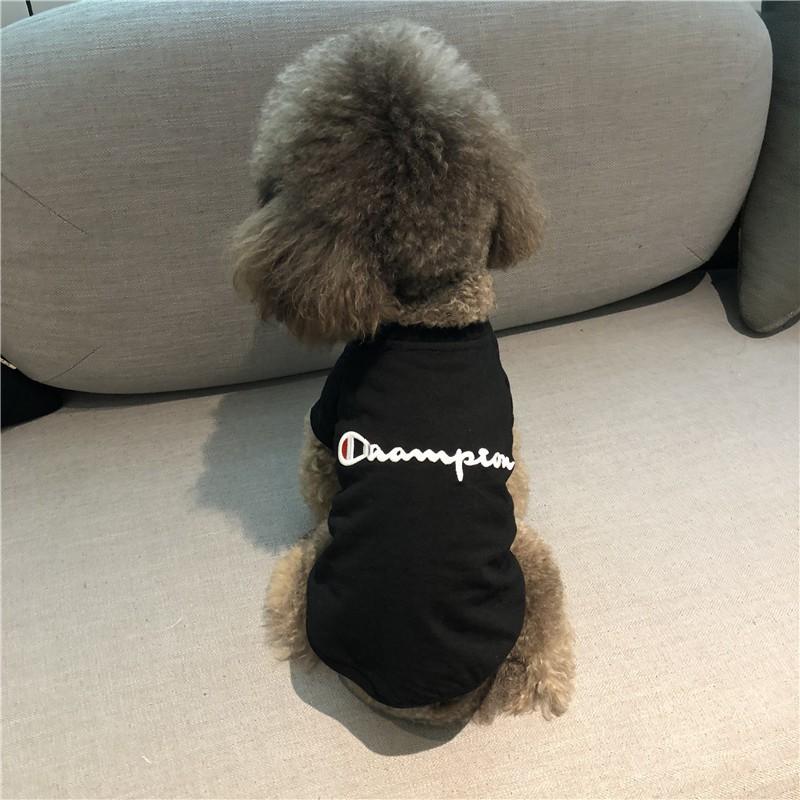 泰迪衣服夏裝薄款狗狗衣服刺繡小型犬比熊法斗貓寵物衣服夏季T恤