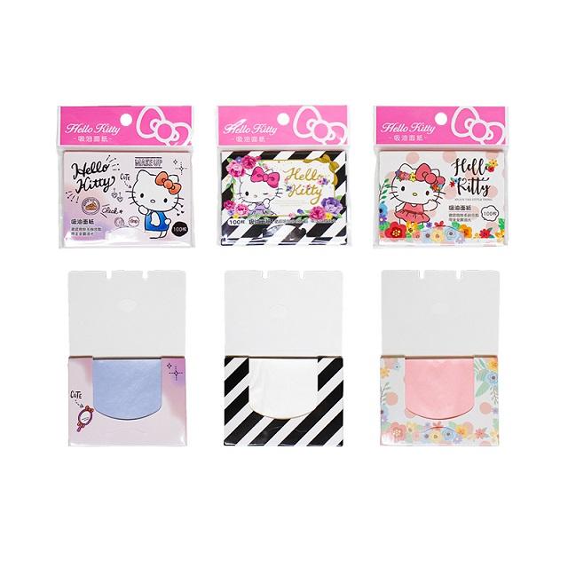 Hello Kitty 吸油面紙 玫瑰/花朵/粉彩 樣式隨機 正版授權 台灣製造