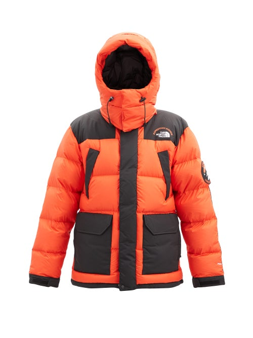 The North Face - Head Of The Sky Hooded Quilted Down Coat - Mens - Orange