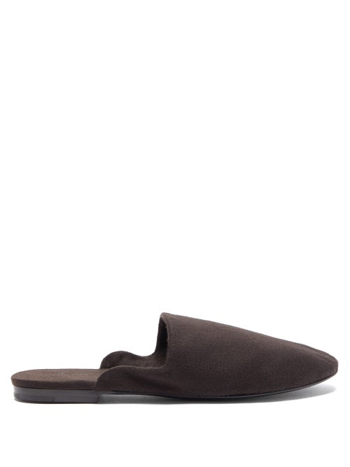 The Row - Granpa Cashmere Backless Loafers - Womens - Brown