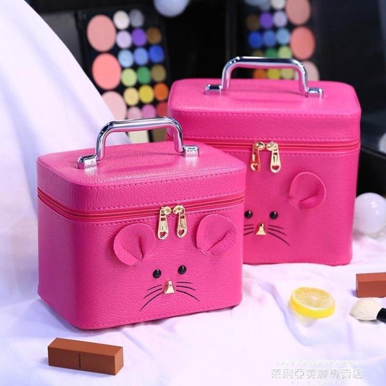 化妝包女大容量便攜韓國可愛化妝箱手提化妝盒網紅化妝品收納包