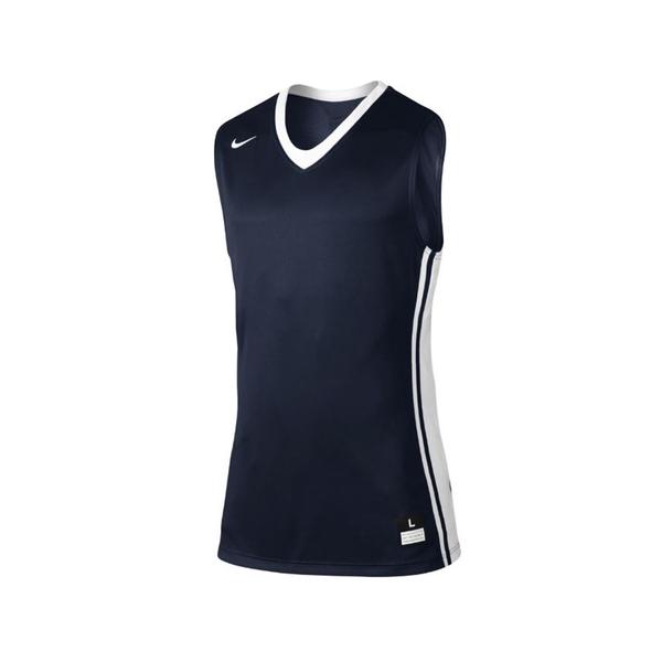 Nike National Varsity Stock 男 籃球 背心 快乾 單面 球衣 深藍 [639395-420]