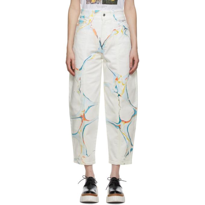 Stella McCartney 白色图案印花牛仔裤