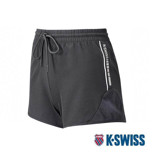 K-SWISS PF Woven Short W/Mesh運動短褲-女-黑