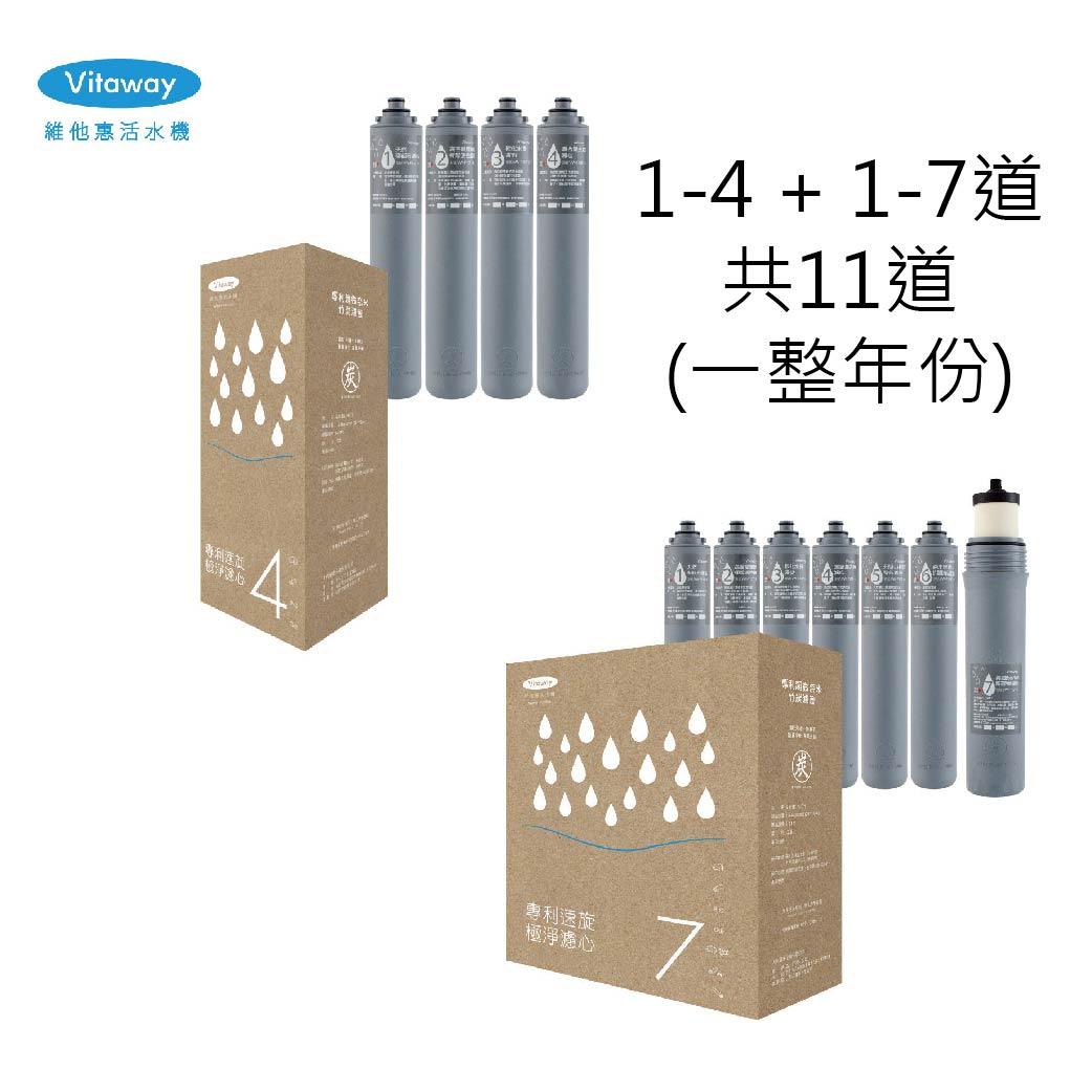 Vitaway維他惠 活水機濾芯(一整年份/1-4+1-7道)