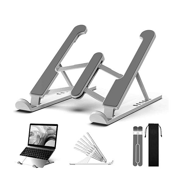[9東京直購] LUXSURE 折疊式筆電支架 10.5~22吋 筆電/Mac/iPad/平板 七段角度 防滑 矯正姿勢 黑/銀
