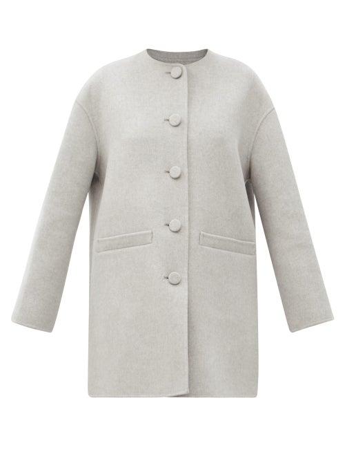 Marc Jacobs Runway - Dropped-shoulder Felted Wool-blend Jacket - Womens - Light Grey