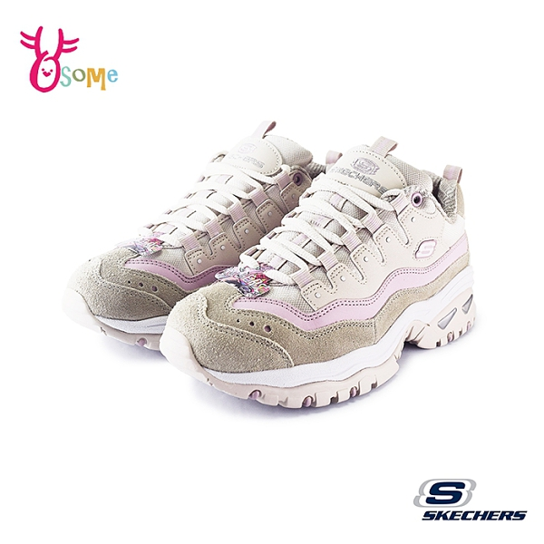 Skechers運動鞋 女鞋 ENERGY OCEAN TIDE 慢跑鞋 經典復古鞋 奶茶色老爹鞋 增高避震 U8295#粉紅◆奧森