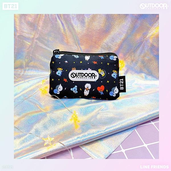 宇宙明星BT21-小宇宙滿版票卡夾-黑色 ODBT19G02BK