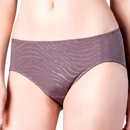【思薇爾】豹紋系列M-XXL中腰三角內褲(卵石褐)