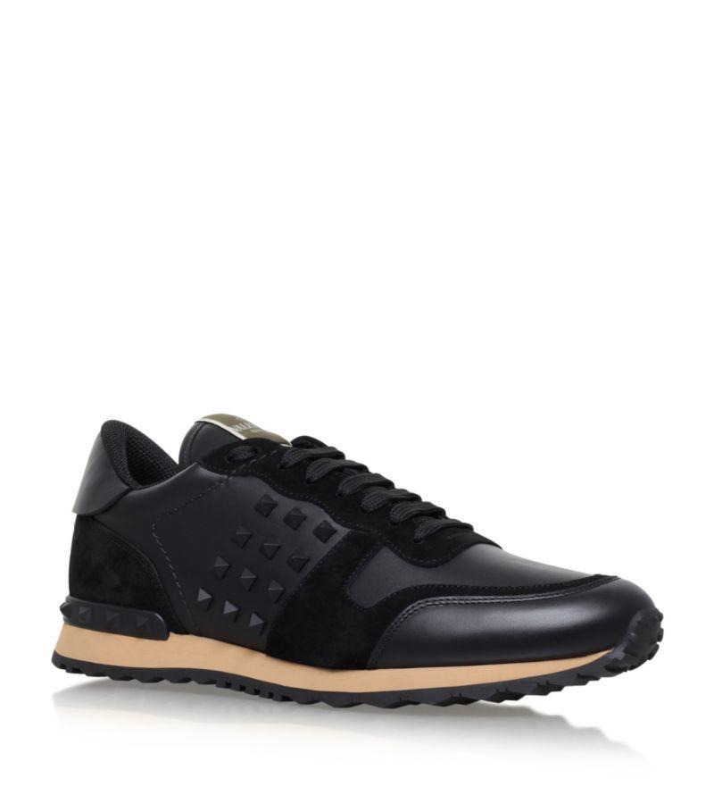 Valentino Valentino Garavani Rockrunner Leather Sneakers