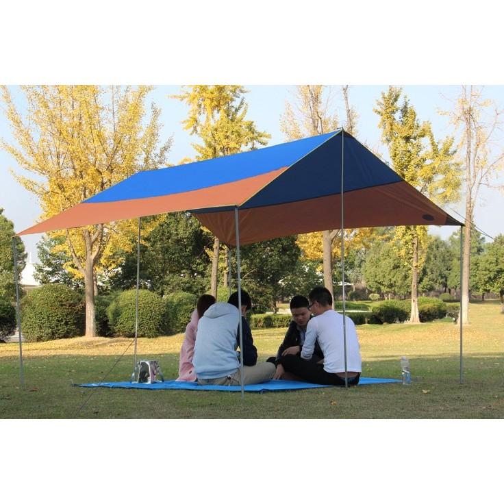 450*450 CM 戶外活動野餐露營必備 遮陽防雨 多功能高級牛津布銀膠天幕 野餐地蓆