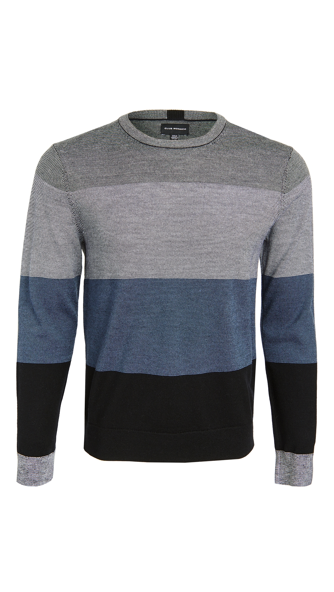 Club Monaco Block Merino Crew Neck Sweater